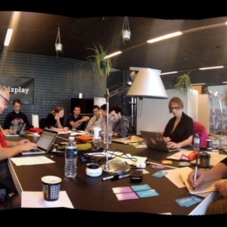 Gamedesign Workshop at the table